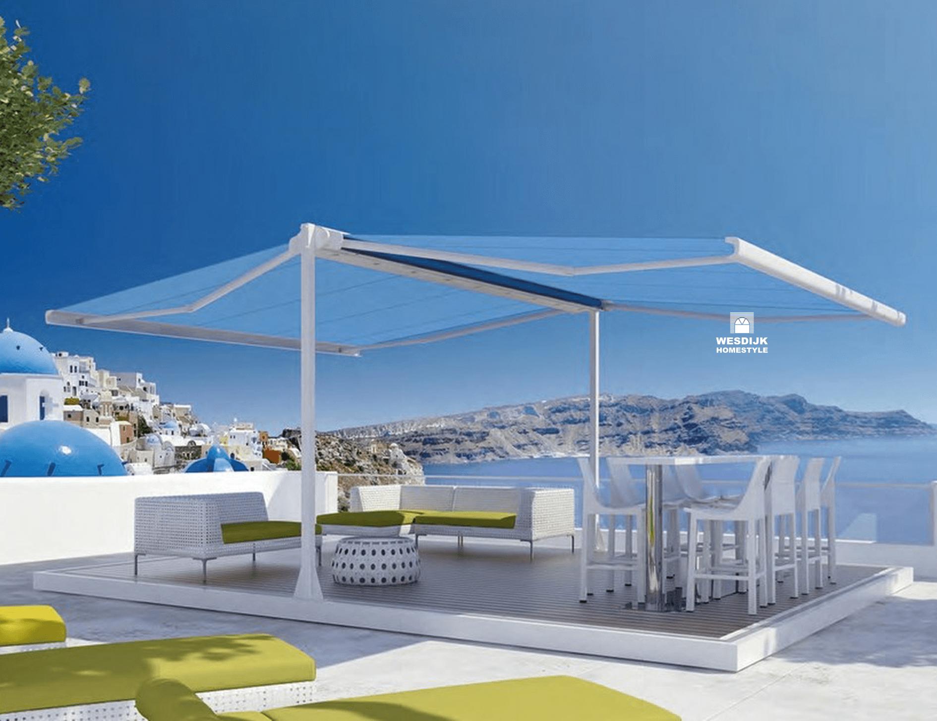boxmobil Knikarmscherm met Zonwering specialist Zeeland knikarmschermen zonneschermen